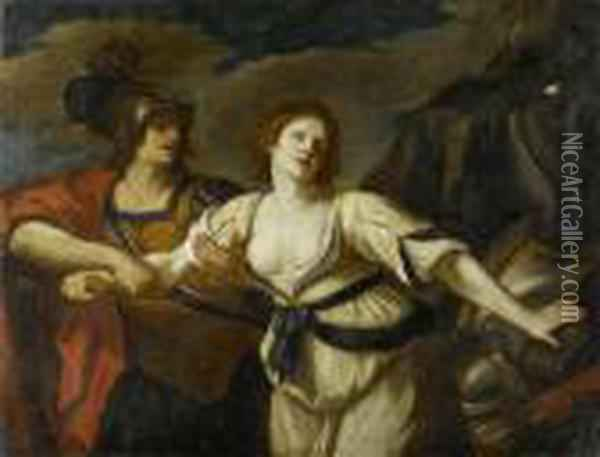 Rinaldo And Armida Oil Painting - Guercino