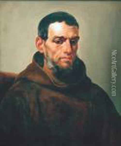Franciscan Monk Oil Painting - Guercino