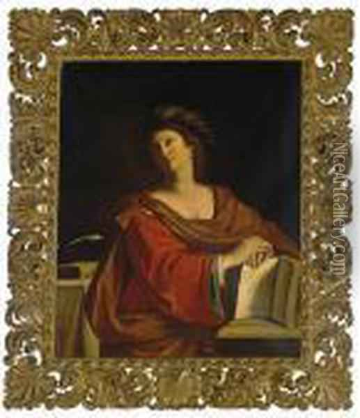 The Samian Sybil Oil Painting - Guercino