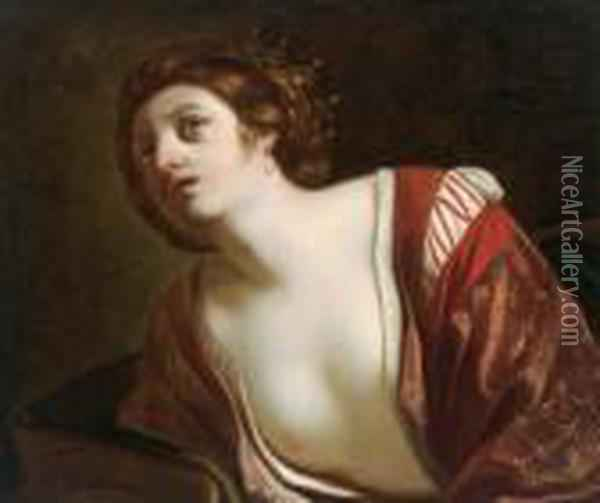 Untitled Oil Painting - Guercino