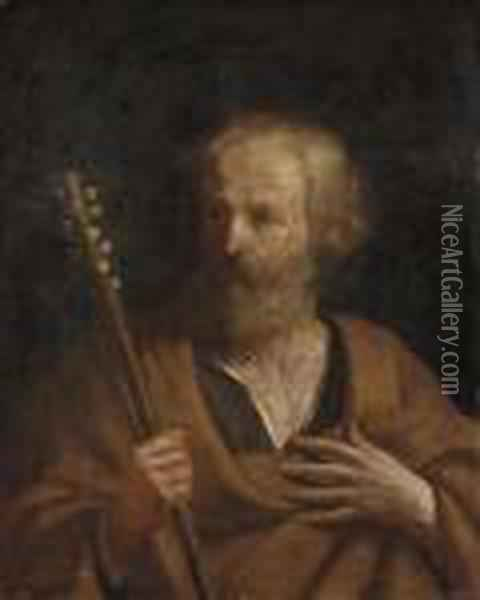 Saint Joseph With The Flowering Staff Oil Painting - Guercino