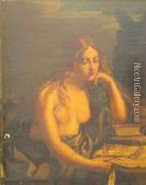 The Penitent Mary Magdalen Oil Painting - Guercino