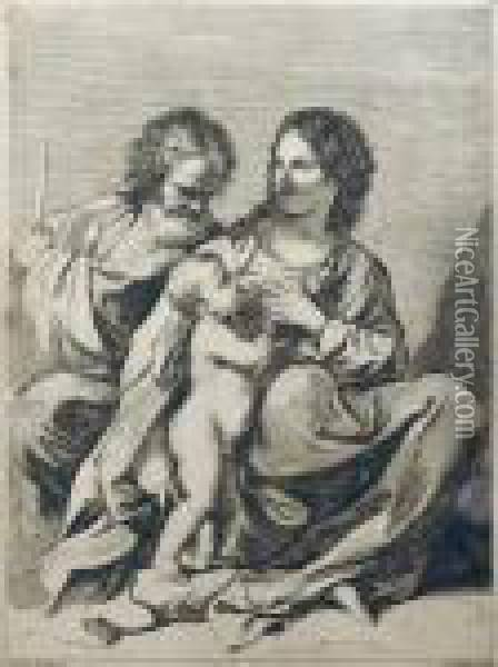 Holly Family Oil Painting - Guercino