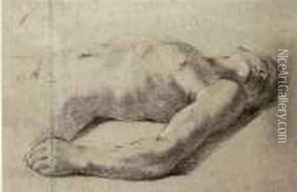 A Reclining Nude Oil Painting - Guercino