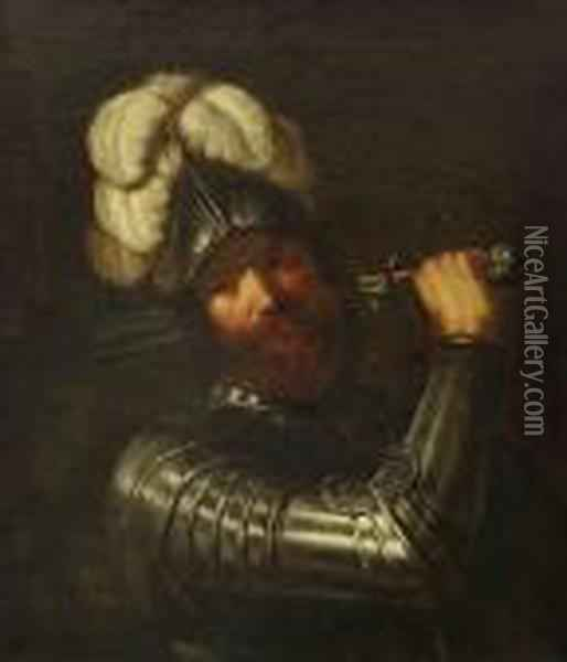 Krieger Oil Painting - Guercino