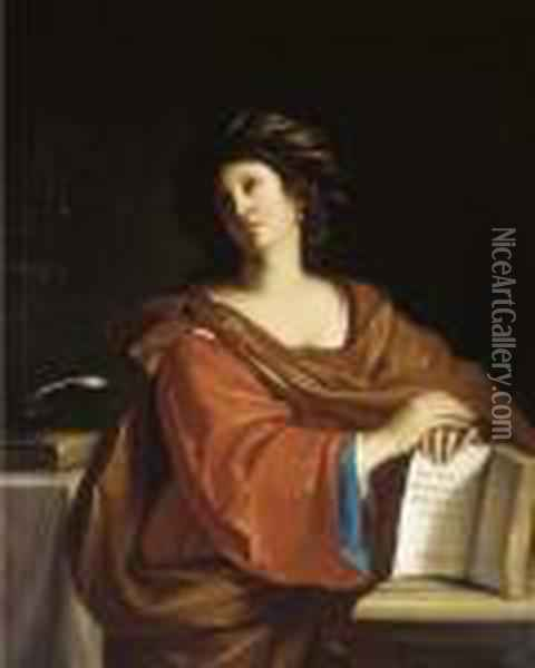 The Samia Sybil Oil Painting - Guercino