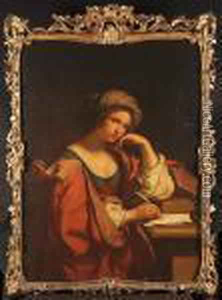The Persian Sybil Oil Painting - Guercino