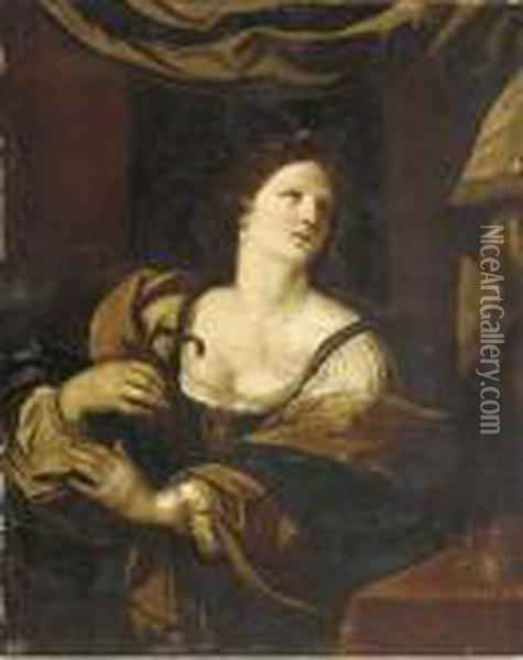 Cleopatra Oil Painting - Guercino