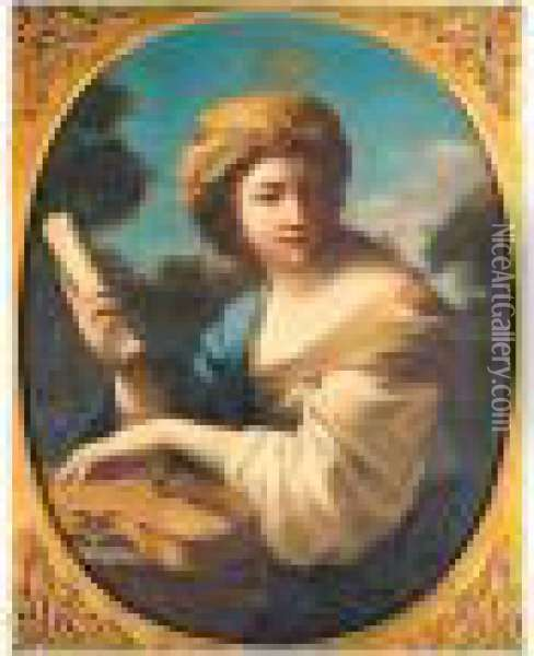 Saint Cecilia Oil Painting - Guercino