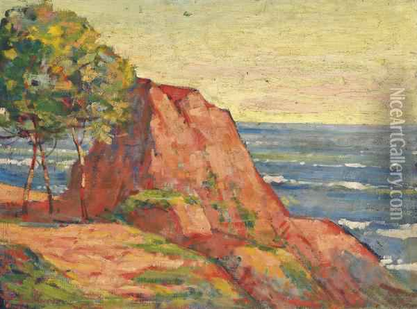Les Roches Rouges A Agay Oil Painting - Armand Guillaumin