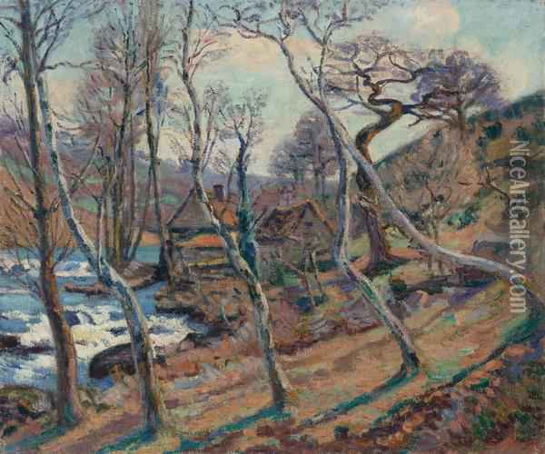 Moulin, Bouchardon Oil Painting - Armand Guillaumin