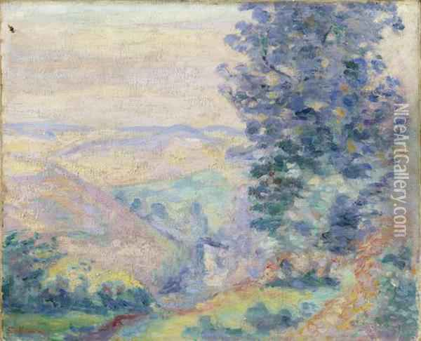 Paysage Du Crozant, Le Puy Barriou Oil Painting - Armand Guillaumin