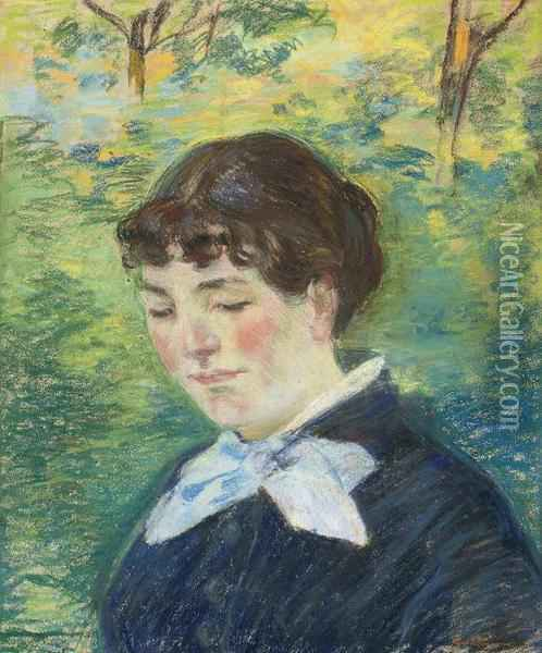 Portrait De Jeune Fille Oil Painting - Armand Guillaumin