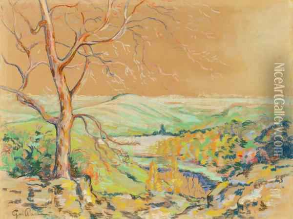 Paysage A Crozant Oil Painting - Armand Guillaumin