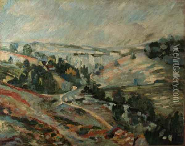 Le Pont Charraud Oil Painting - Armand Guillaumin
