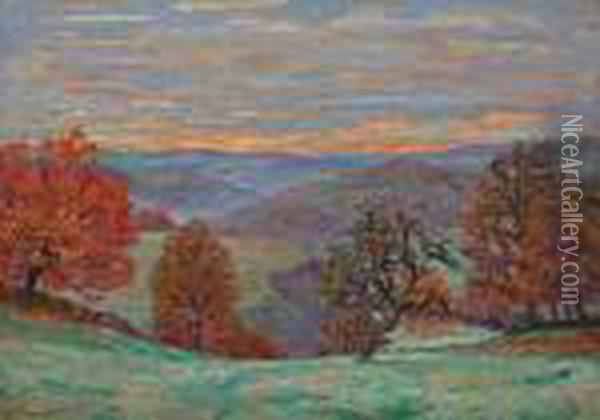 Crozant, Le Puy Barriou Oil Painting - Armand Guillaumin