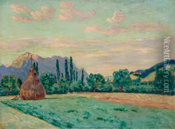 Vallee De L'isere A Pontcharra Oil Painting - Armand Guillaumin
