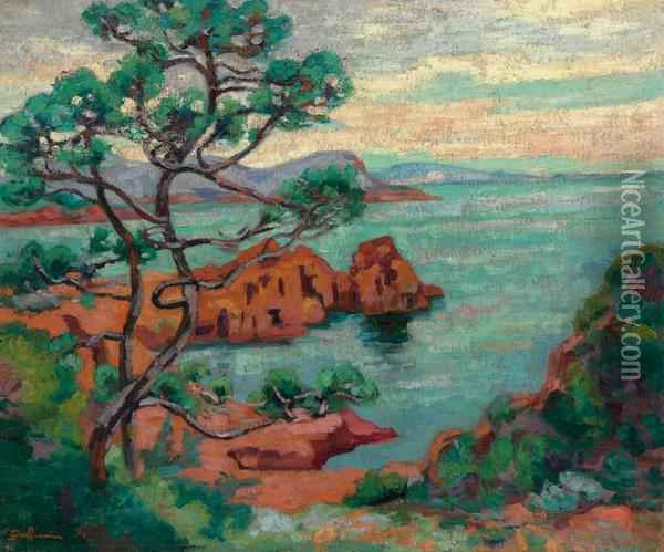 Rochers Au Trayas Oil Painting - Armand Guillaumin