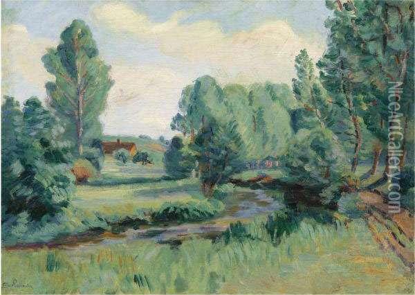 Jouy, Ile De France Oil Painting - Armand Guillaumin