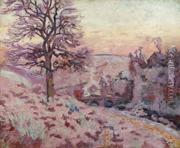 Gelee Blanche Oil Painting - Armand Guillaumin