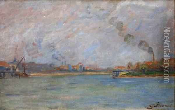 La Seine A Alforville Oil Painting - Armand Guillaumin
