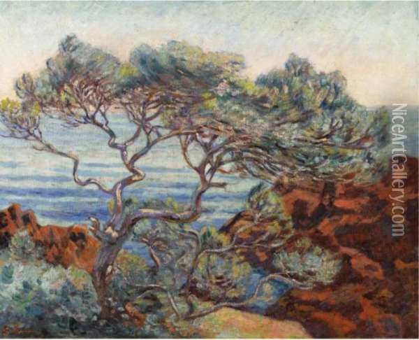 Les Rochers Rouges A 'agay Oil Painting - Armand Guillaumin