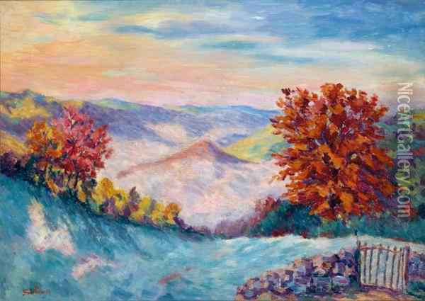 Le Puits Barriou Oil Painting - Armand Guillaumin