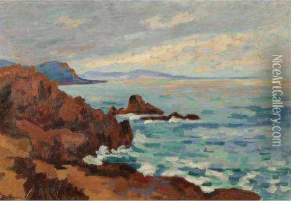 Soleil Couchant, Le Trayas-agay Oil Painting - Armand Guillaumin