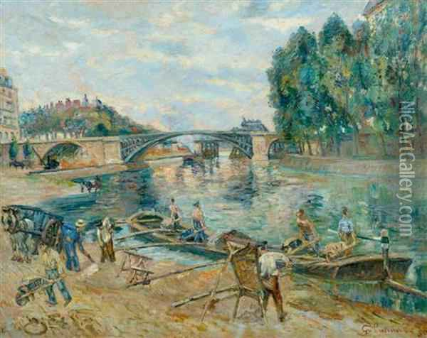 Le Pont De Sully. Oil Painting - Armand Guillaumin