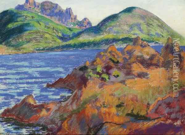 La Mer A Agay Oil Painting - Armand Guillaumin