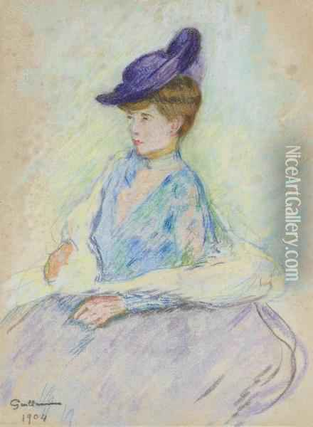 Femme Assise Oil Painting - Armand Guillaumin