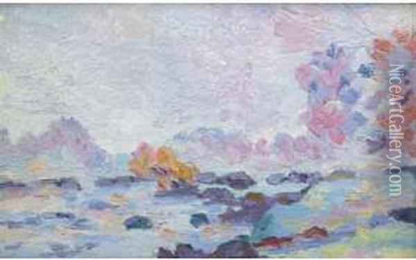 Barrage De Genetin Oil Painting - Armand Guillaumin