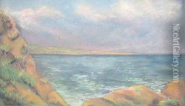 Untitled (seascape) Oil Painting - Armand Guillaumin