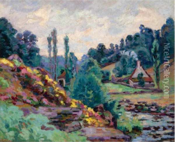 Le Moulin De Jonon Creuse Oil Painting - Armand Guillaumin