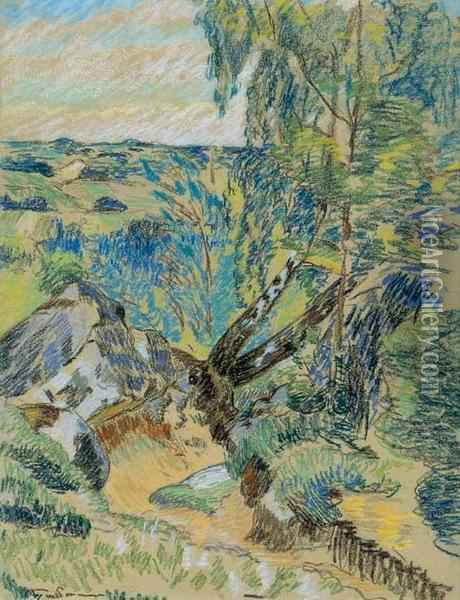 Paysage Oil Painting - Armand Guillaumin