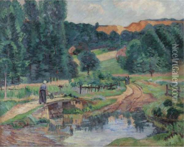 Paysage De Saint-cheron Oil Painting - Armand Guillaumin