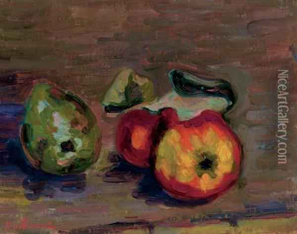 Nature Morte Oil Painting - Armand Guillaumin