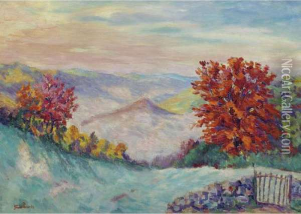 Le Puy Barriou Oil Painting - Armand Guillaumin