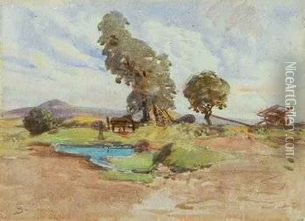 Jean Baptiste Paysage Oil Painting - Armand Guillaumin