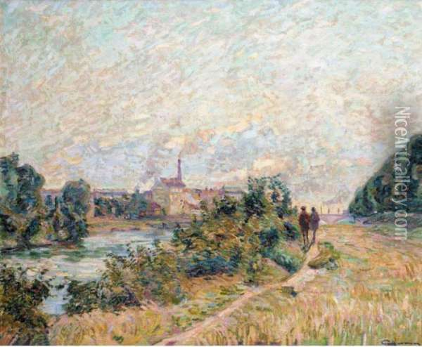 La Pointe D'ivry Oil Painting - Armand Guillaumin