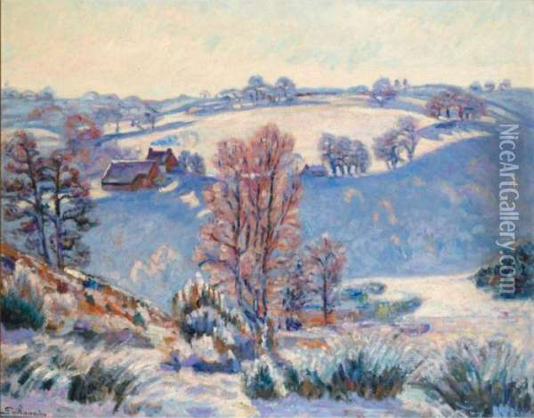 Gelee Blanche A Crozant Oil Painting - Armand Guillaumin