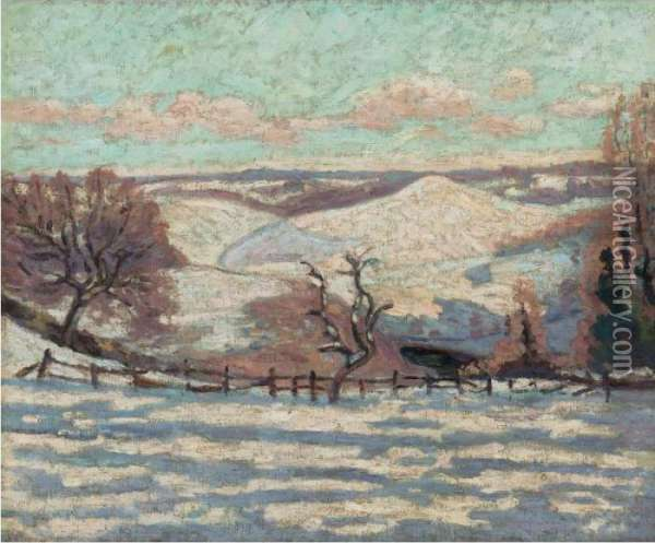 Gelee Blanche Au Puy Barriou, Crozant Oil Painting - Armand Guillaumin