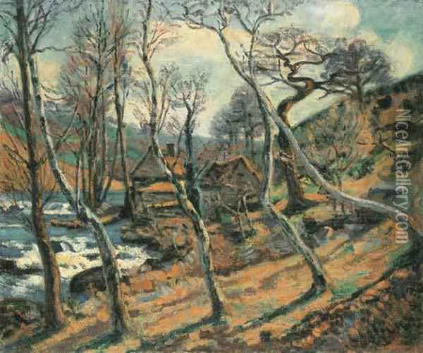 Moulin Bouchardon, Crozant Oil Painting - Armand Guillaumin