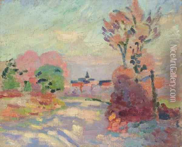 Matin D'automne A La Campagne Oil Painting - Armand Guillaumin