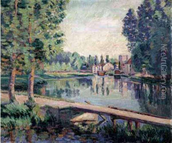 Le Vieux-samois, Vers 1900. Oil Painting - Armand Guillaumin