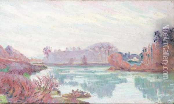 Bords De La Marne, En Hiver Oil Painting - Armand Guillaumin