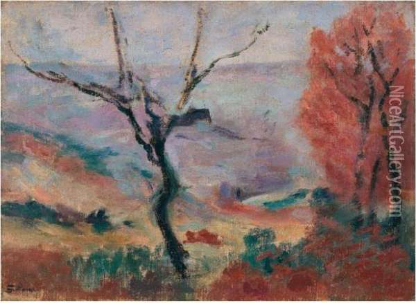 Paysage A La Creuse Oil Painting - Armand Guillaumin