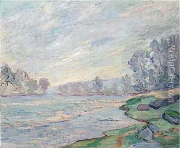 Bords De Riviere Oil Painting - Armand Guillaumin