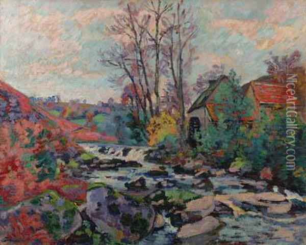 Moulin Bouchardon Crozant Oil Painting - Armand Guillaumin