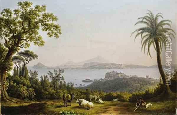 A View Of The Bay Of Pozzuoli Oil Painting - Jacob Philipp Hackert